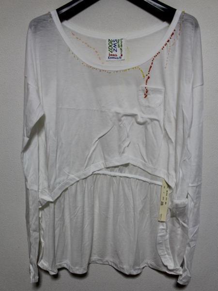 スワンジー SWANZY レディース 長袖 Tシャツ チュニック ホワイト 新品 SW-12T-02_画像1