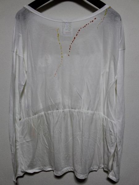 スワンジー SWANZY レディース 長袖 Tシャツ チュニック ホワイト 新品 SW-12T-02_画像3