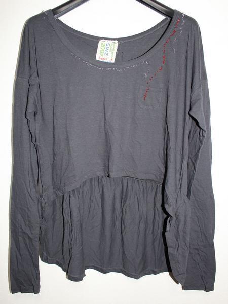 スワンジー SWANZY レディース長袖Tシャツ チュニック ブラック 新品 SW-12T-02_画像1