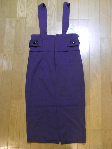 イタリア製 レディースジャンパースカート パープルSサイズ 新品_画像3