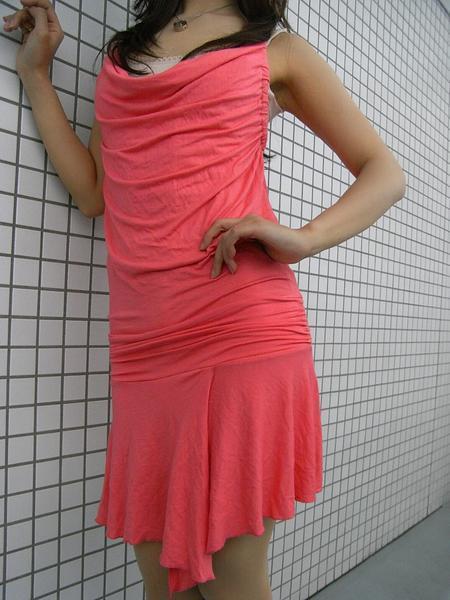 イタリア製 レディースワンピース ピンク Mサイズ 新品_画像1