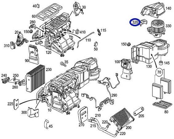 A/C ブロワレギュレター ブロアレジスター/W209 CLKクラス CLK240 CLK320/R171 SLKクラス SLK350 SLK55AMG (230-821-6351/230-821-6451)_画像3