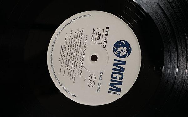 国内プロモ盤LP Railhead Overture マイク・ポスト MIKE POST ロック ポップス レコード 寄付品_画像9