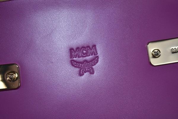 MCM/エムシーエム バケッタレザー クロスボディバッグ トランクバッグ soft berlin vachetta カラー:パープル 19n02_画像5