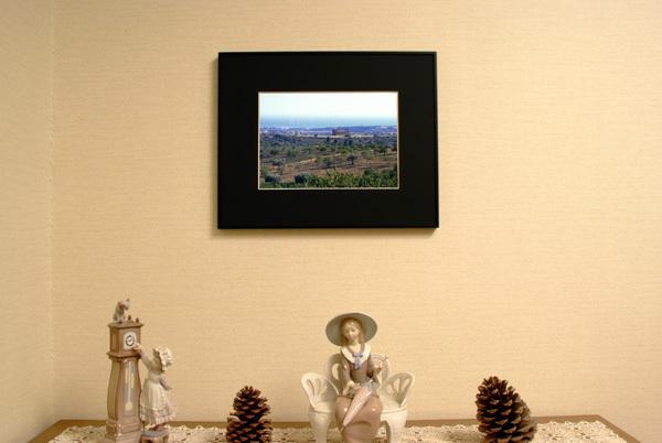 ■イタリア アグリジェント 神殿の谷 世界遺産 ★ 額縁付 A3ノビ_    玄関用イメージ A4サイズ