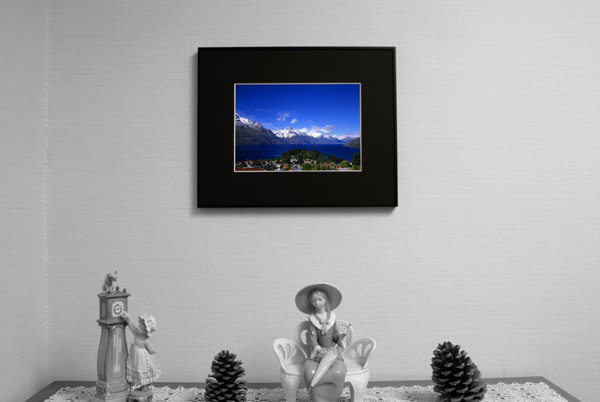 ニュージーランド クイーンズタウン ワカティブ湖 ★額縁付 A3_       玄関用イメージ A4サイズ