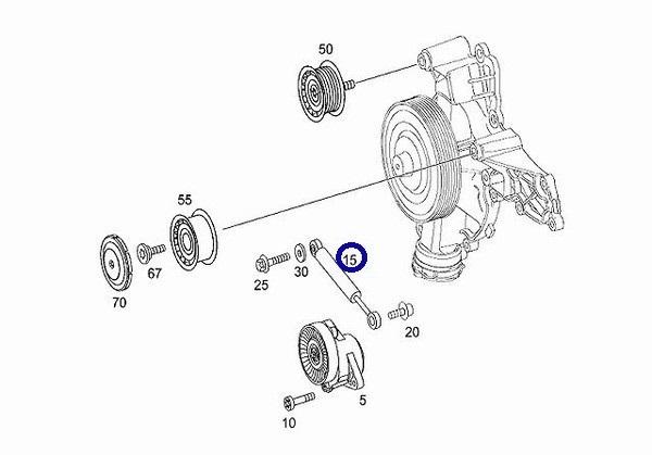 INA製 ベルトテンショナーダンパー新品/メルセデスベンツ M272(V6) エンジン用 W639 Vクラス 3.2 V350/W251 Rクラス R350 (272-200-0114)_画像2