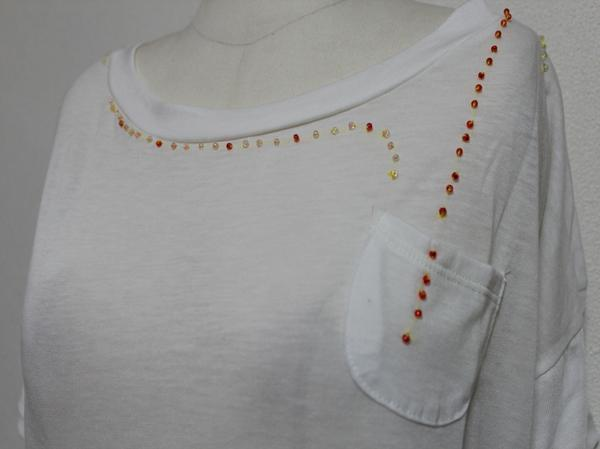 スワンジー SWANZY レディース半袖Tシャツ ホワイト 新品_画像2