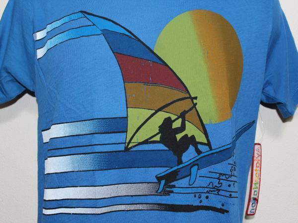 アビエーターネイション Aviator Nation メンズ半袖Tシャツ ブルー Sサイズ 新品_画像2