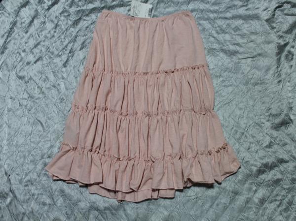 イタリア製 レディーススカート ピンク Sサイズ 新品_画像1