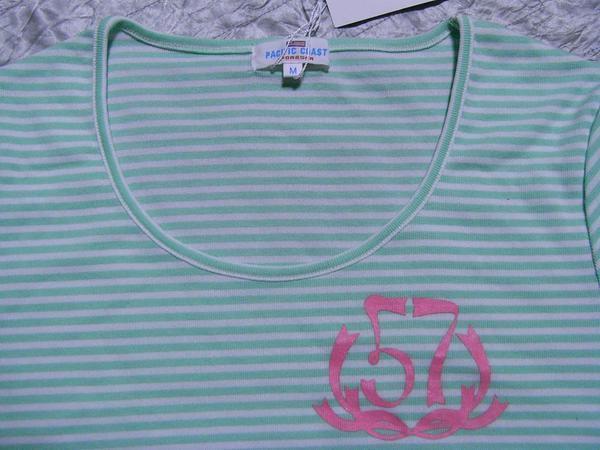 パシフィックコースト PACIFIC COAST レディース半袖Tシャツ ライム Mサイズ 新品_画像2
