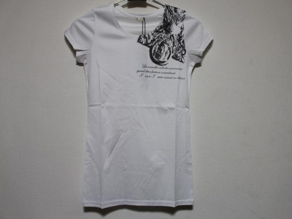 デスピエール DES PIERRE レディース半袖Tシャツ ホワイト 日本約S 新品 DPW-80019_画像1