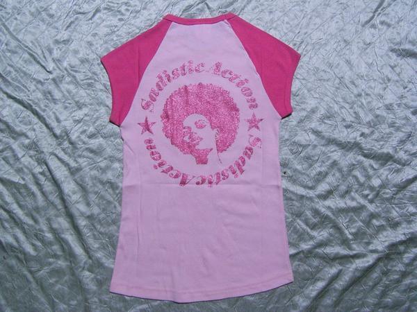 サディスティックアクション SADISTIC ACTION レディース半袖Tシャツ ピンク Sサイズ 新品_画像2