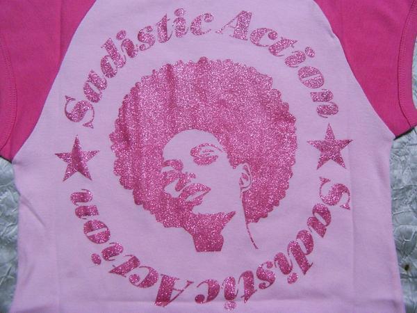 サディスティックアクション SADISTIC ACTION レディース半袖Tシャツ ピンク Sサイズ 新品_画像3
