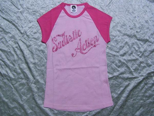 サディスティックアクション SADISTIC ACTION レディース半袖Tシャツ ピンク Sサイズ 新品_画像1