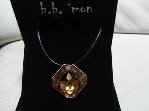 ビービーサイモン B.B.SIMON ペンダント ブラウン NO33 新品 アクセサリー_画像1