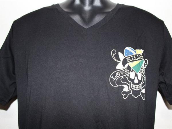 エドハーディー ED HARDY メンズ半袖Tシャツ Sサイズ ブラック VB052 新品_画像2