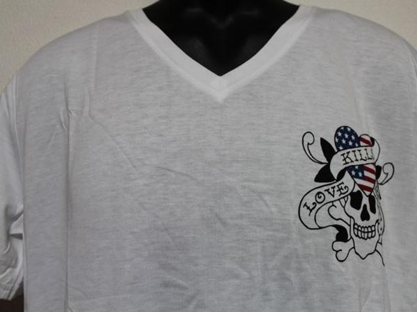 エドハーディー ED HARDY メンズ半袖Tシャツ Lサイズ ホワイト US052 新品_画像2