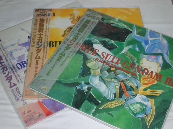 (LD)機動戦士ガンダム GUNDAM1~3 劇場版3部作全3巻セット_画像1