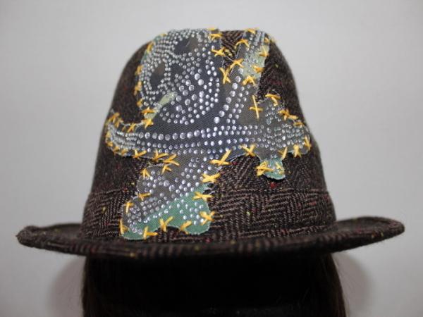 アイコニック Iconic Couture ハット 帽子 ブラウン 新品_画像2