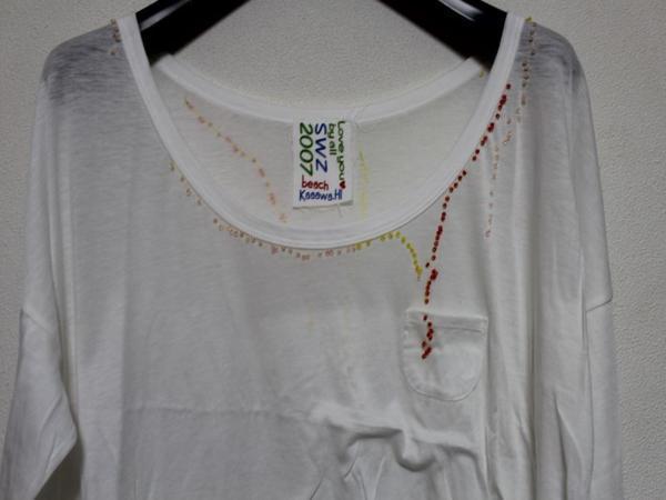 スワンジー SWANZY レディース 長袖 Tシャツ チュニック ホワイト 新品 SW-12T-02_画像2
