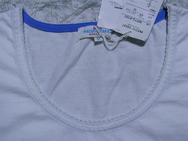 パシフィックコースト PACIFIC COAST レディース半袖Tシャツ ホワイトMサイズ 新品_画像2
