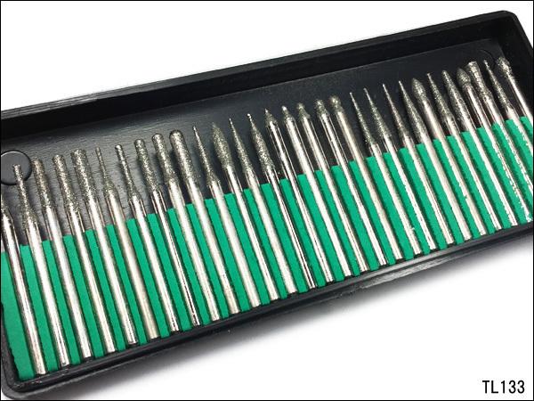 ダイヤモンドビット 30本 電動ルーター用 ダイヤモンドポイント 30本 軸径3mm リュータービット ダイヤモンド砥石/c12_画像3