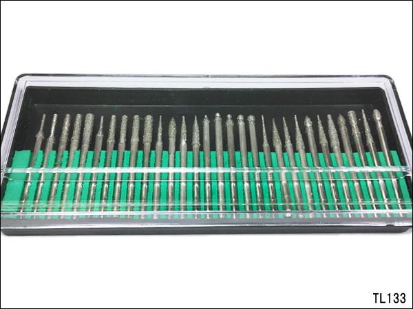 ダイヤモンドビット 30本 電動ルーター用 ダイヤモンドポイント 30本 軸径3mm リュータービット ダイヤモンド砥石/c12_画像2