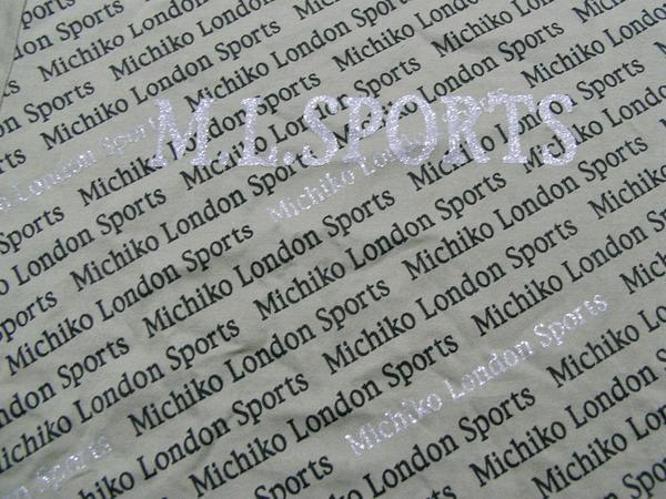 ミチコロンドン MICHIKO LONDON レディース半袖Tシャツ カーキ Mサイズ NO3 新品_画像2