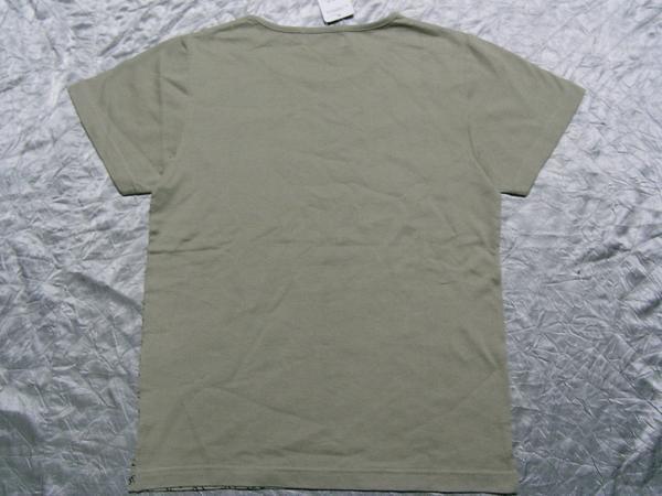ミチコロンドン MICHIKO LONDON レディース半袖Tシャツ カーキ Mサイズ NO3 新品_画像3