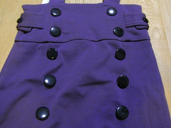 イタリア製 レディースジャンパースカート パープルSサイズ 新品_画像2