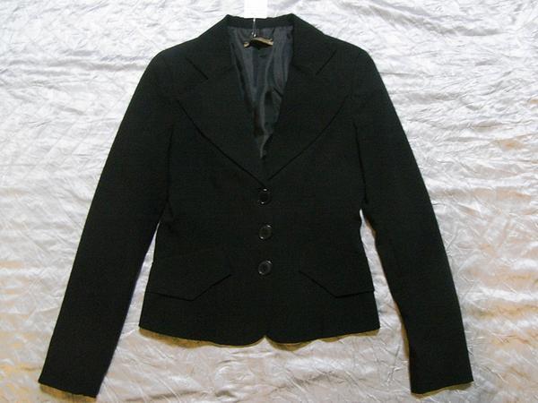 イタリア製 Linea レディースジャケット ブラック XSサイズ 新品_画像1