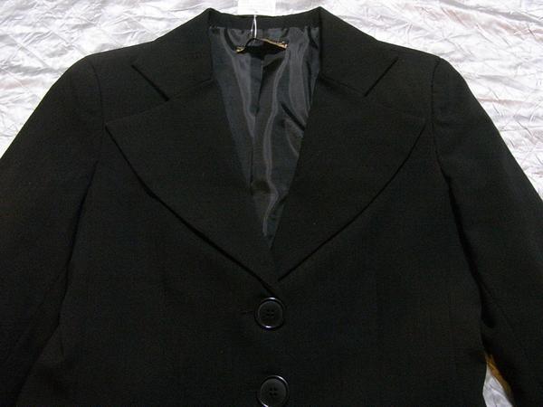 イタリア製 Linea レディースジャケット ブラック XSサイズ 新品_画像2