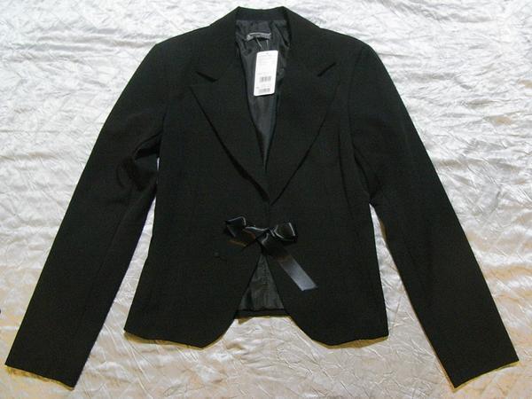 イタリア製 Linea レディースジャケット ブラック Sサイズ リボン 新品_画像1