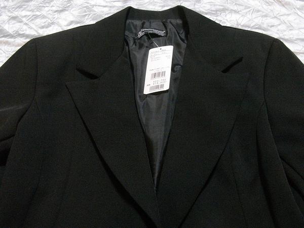 イタリア製 Linea レディースジャケット ブラック Sサイズ リボン 新品_画像2