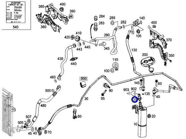 BEHR製 リキッドタンク 圧力センサー/ベンツ W164 W463 W251_画像2