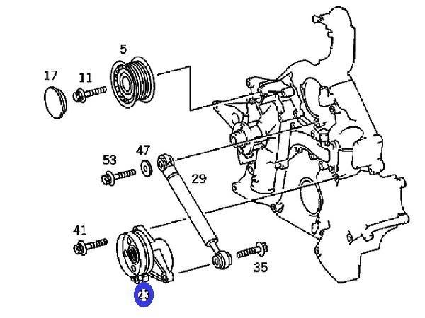 INA製 ベルトテンショナー新品 (V6/V8エンジン) R170 R171 SLKクラス W251 Rクラス (112-200-0970/534.0114.20)_画像2
