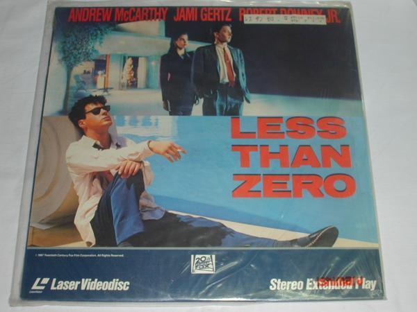★(LD)LESS THAN ZERO ANDREW McCARTHY/JAMI GERTZ[輸入版] 中古_画像1
