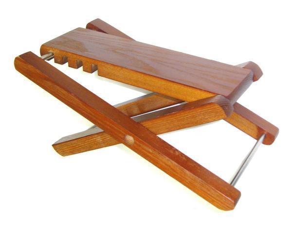E楽器★即決新品★足台★高さ4段階★木製ギター足台★演奏用足台_画像1