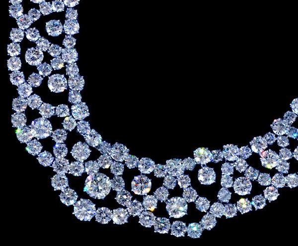 *【HARRY WINSTON】ハリーウィンストン 大粒ダイヤモンド 超高級Pt950セレブリティネックレス_画像2