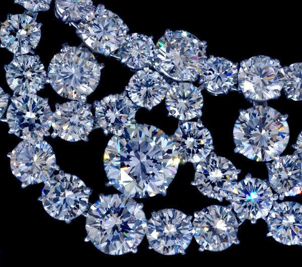 *【HARRY WINSTON】ハリーウィンストン 天然大粒絶品ダイヤモンド 超高級Pt950セレブリティネックレス_画像1