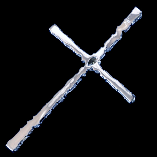 A2218【Cross】大粒上質ダイヤモンド7.04ct 最高級Pt900無垢ビックセレブリティペンダントトップ 重さ11.2g 幅82.3×49.2mm_画像3