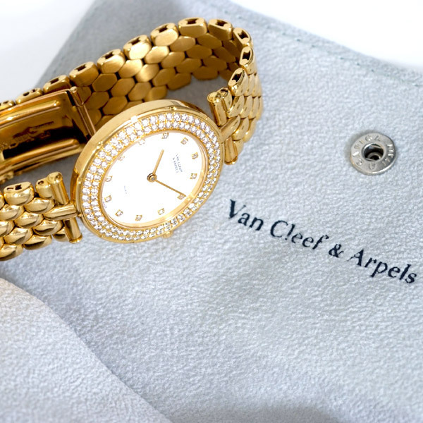 B8023【VAN CLEEF&ARPELS】ヴァンクリーフ&アペール 最高級18金無垢 純正ダイヤ メンズQZ