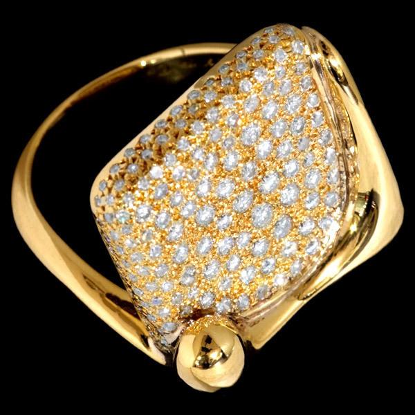 B7285【TIFFANY&Co.】ティファニー 絶品ダイヤモンド 最高級18金無垢リング_画像3