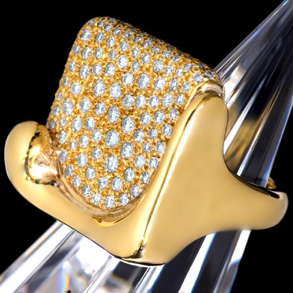 B7285【TIFFANY&Co.】ティファニー 絶品ダイヤモンド 最高級18金無垢リング_画像2