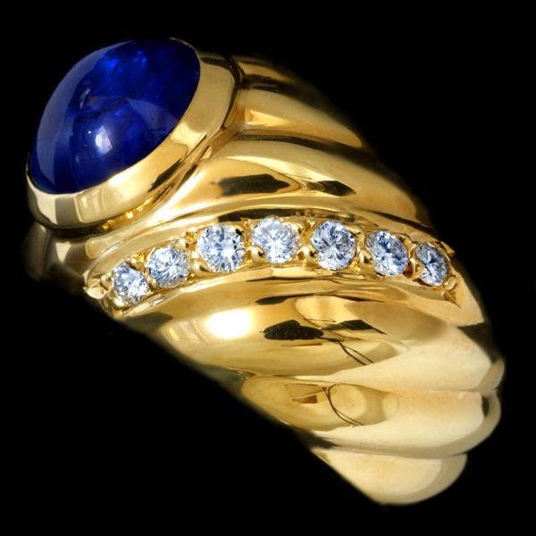 78862-216【Candame】Sapphire 絶品Diamond 18K Ring SPAIN New_画像2