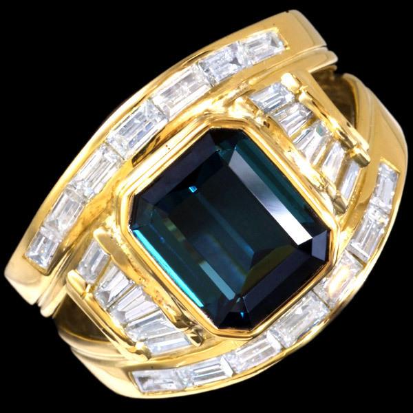 76245 蓝碧玺 2.72克拉 绝品钻石1.00克拉 18K 男女皆宜 戒指