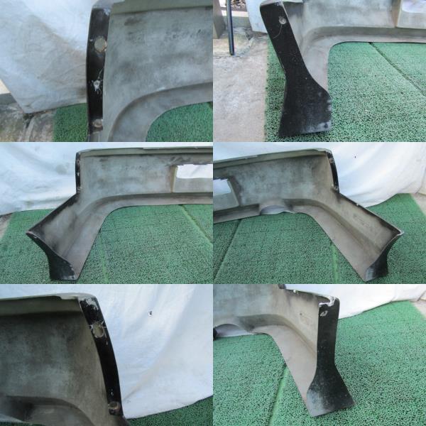 S14 シルビア メーカー不明 社外 エアロバンパー リアバンパー 張り出し オリジンタイプ? 黒色 前期 後期 補修ベースに_画像9