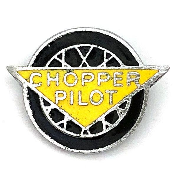 チョッパー パイロット ビンテージ ピンバッジ CHOPPER PILOT Vintage Pin ピンズ バイカー アウトロー アウトロウ Biker Pins Outlaw_画像1