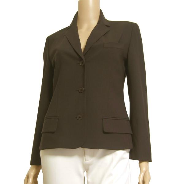 A美品/カルバンクライン CK Calvin Klein 大人な美形ジャケット 表記4号(9号/M相当) 茶/ブラウン オフィス お食事会 春秋向け アウター_シルエットの美しい大人なジャケットです
